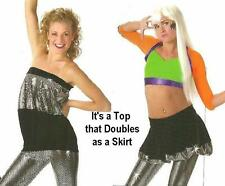 JUST DANCE 1pc It's a TUBE TOP that Doubles as a SKIRT Dance Costume SIZE CHOICE