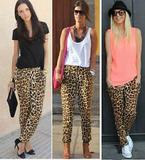 Women Sexy Fashion Leopard Print Pants Casual Ladies Loose Long Trousers Summer