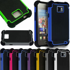 Hybrid Rugged Impact Rubber Hard Back Case Cover for Samsung Galaxy S2 i9100