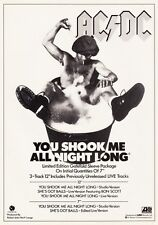 AC/DC You Shook Me All Night Long PHOTO Print POSTER Back In Black Rock Bust 011