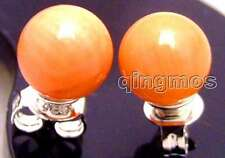 SALE small Pink 5-6MM Round natural Coral earring & silver S925 stud-ear414