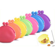 Smalrt Silicone Round Coin Purse Wallet Card Rubber Key Phone Frog Design Bag