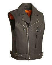 """Men's """"Reckless Outlaw"""" Leather Motorcycle Vest"""