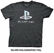 Playstation Logo Foil Gamer Licensed Adult Shirt S-XXL