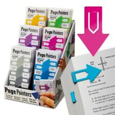PAGE POINTERS Bookmarks Colourful Robust Page Markers Ideal for Home or Office