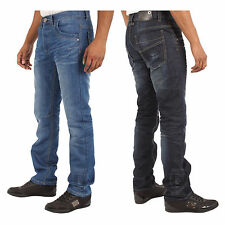New Mens Twisted Leg Tapered Fit Denim Jeans Pants Waist Size 28-42