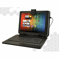 Android Black Leather Keyboard Case Micro USB for Tablet PC allwinner