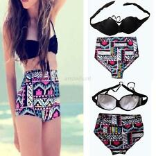 Cutest Retro Vintage High Waist Rockabilly Pin up Bikini Set Swimsuit Swimwear