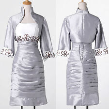 Vintage Sexy Mother Of The Bride Cocktail Evening Prom Party Dresses Free Jacket