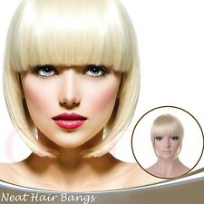 OneDor Short Neat Clip in Clip on Hair Bang Fringe Hair Extension Hair Piece