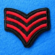 Army Military Police Insignia Iron on Sew Embroidered Cloth Red Patch Badge Appl