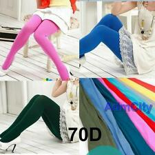 70 Denier Candy Color Plain Pantyhose Tights Stockings Spandex Soft Touch Biker