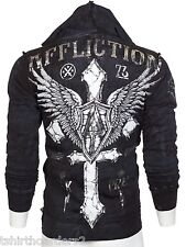 AFFLICTION Mens Hoodie Sweat Shirt Jacket DO IT AGAIN Fight Biker UFC S-3XL $88