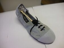 FootzyFolds Luxe By Footzyrolls Ladies Lace Up Ballet Slippers in Grey  S,M,L,XL