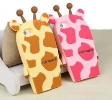 Cute Giraffe Animal Cartoon Silicone Case Cover for iPhone / Samsung Models