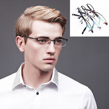 Pure Titanium Spectacles Men Glasses Optical Half Rimless Eyeglass Frame Eyewear