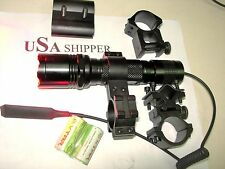 GREEN or RED Tactical LED FLASHLIGHT beats 1200 CPI lights! Hog or Coyote Hunter