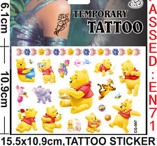 lot pooh Stickers DIY Children's TEMPORARY TATTOO sticker Party