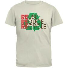 Earth Day - REduce REuse REcycle Natural Adult T-Shirt