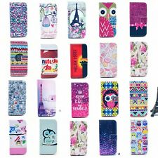 For Samsung Fashion Magnetic Flip wallet PU Leather Stand Skin Hard Case Cover
