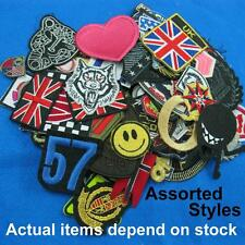200 Wholesale Assorted Patches Iron on Sew Embroidered Badge Applique Lots Biker