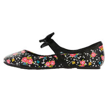 IRON FIST DITZY SKULL FLORAL FLOWER ROSES PUNK GOTH ROCK FLATS SHOES WOMENS 6-10