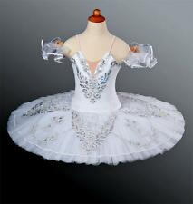 Classical Ballet Tutu Professional Competition White Silver All Sizes InStock!!!
