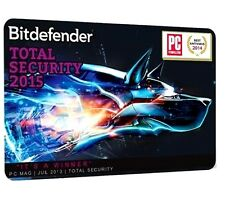 3 PC BitDefender Total Security 2015 3 user/pc 1 año (365) ESD versión