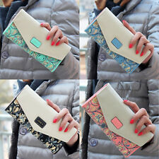 2015 New Women Leather Wallet Envelope Purse Card Holder Bag Long Handbag Gift