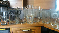 Custom Etched Glass Cups or Beer Mugs or Whiskey Glass or Mason Jars