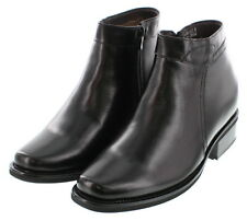 """Elevator shoes height increase increasing formal boots  3.2"""" taller black"""