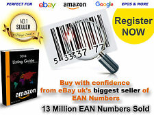 Bar codes EAN code UPC Barcodes Numbers for Amazon itunes 5 - 100 000