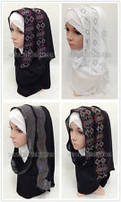 New Hot Drill Muslim Long Scarf Hijab Islamic Shawls Arab Headwear Shayla
