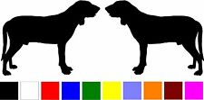 2 Great Gascony Blue dog breed silhouette home car windows vinyl decals stickers