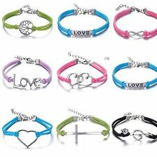 Hot sale Jewelry fashion lots Style Leather Unsex Charm Friendship Love Bracelet