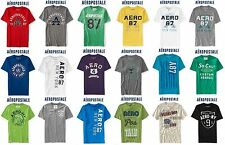 NWT Aeropostale Men 2XL  Appliquéd T Shirt XXL Blue,Grey,Green,White,Black,Red!!