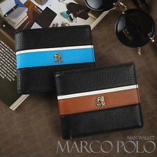 (MARCO POLO) Men's Trifold Luxury Faux Leather Wallet #MP567-3 (Free Shipping)