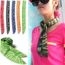 Cool Headband Summer Cotton Ice Neck  Body Cooler Cooling Scarf Wrap Towel US