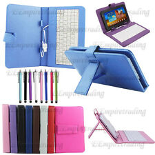 NEW UNIVERSAL MICRO USB KEYBOARD +PU LEATHER FOLIO CASE COVER FOR ANDROID TABLET