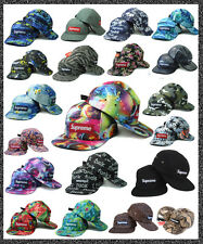 SUPREME HATS 5 Panel CAP Box Logo CAMP SAFARI Style Hats Adjustable Strap Back