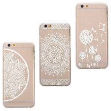 Transparent Flower Floral Case Plastic Case Skin Cover For iPhone 6 Henna Cheap