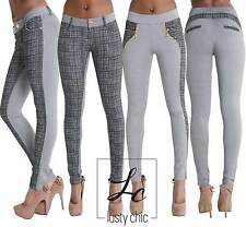Ladies Women Sexy Black Grey Leggings Trousers Pants Size 6 8 10 12 14