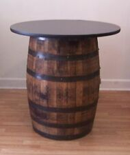 whiskey barrel table with 36 authentic jim beam whiskey barrel table