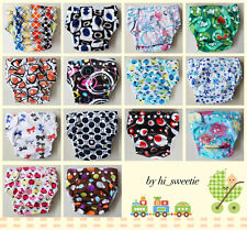 NEW Baby Infant Reusable CLOTH DIAPER Pocket Nappy Covers HIP SNAPS Wrap inserts