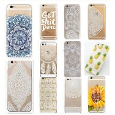 Henna Mandala Paisley floral Back Soft Case Cover for iphone 5/5S 5C 6/6 Plus