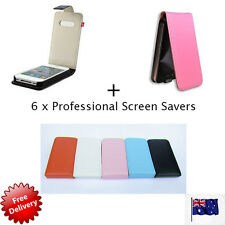 Brand New Flip Leather Case Cover for Apple iPhone 4 4G 4S PLUS 6 Screen Covers
