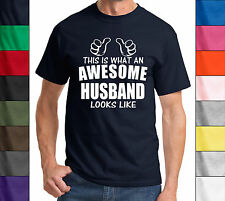 This Is What An Awesome Husband Looks Like Funny Shirt Valentines Day Gift Tee