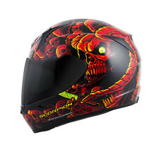 Scorpion EXO-R410 Dr. Sin Red/Black Snell Full Face Motorcycle Riding Helmet