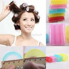 6Pcs/Set Big Self Grip Velcro Hair Rollers Cling Any Size DIY Hair Curlers New
