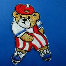 Teddy Bear Iron on Sew Patch Cute Applique Badge Embroidered Animal Dancing Love